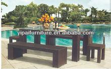 outdoor synthetic rattan bar furniture set,imitation furniture YPS035