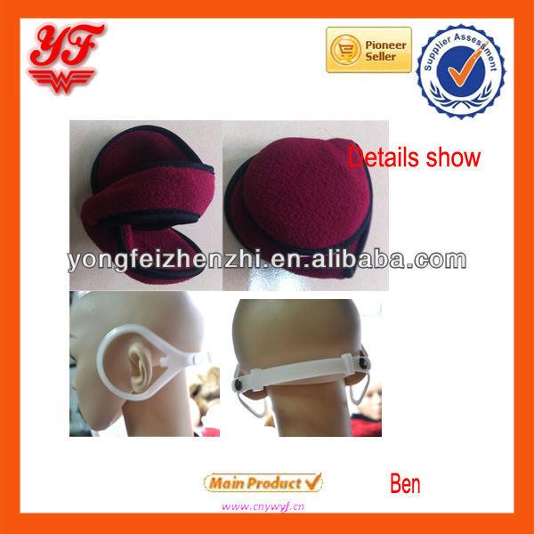 Paño grueso y suave Polar caliente orejeras con marco ajustable para la promoción