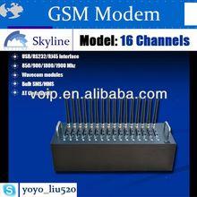 Linux support gsm modem pool TCP IP GPRS wavecom mini modem rs232