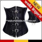 WELLA LINGERIE Women's Fashion Sexy Steel Boned Underbust PVC leather latex waist Corset