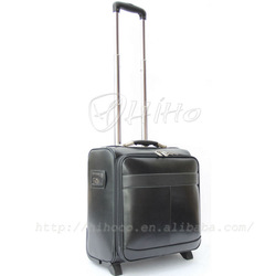 Business leather trolley luggage