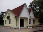 wood/brick grain texture fiber cement board exterior wall claddin prefabricated houses light steel houses