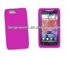 Simple design Clear Gel slim Skin silicone covers for phones Motorola Razr XT910