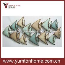 Nautical fish metal wall art