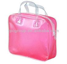solid frosting pvc handbag