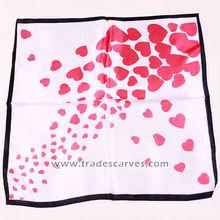 2015 sweet design brand hot fashion women square silk handkerchief
