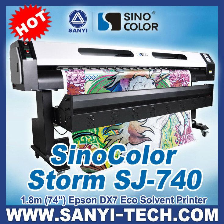 Eco Solvent Plotter, SinoColor SJ740, With Epson DX7 Head, 1.8&3.2m