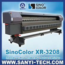 Inkjet Printer Sinocolor XR-3208--With Xaar Proton 382 Heads,3.2m,720dpi