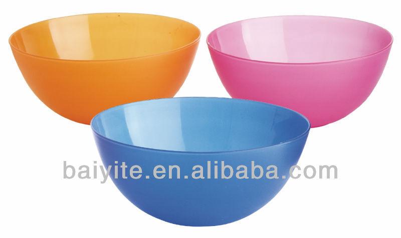 La moda de colores venta al por mayor plato de sopa de plástico para artículos del hogar