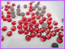 top fashion hot sale siam decorative hot fix crystal rhinestone DMC for dresses and garment decoration