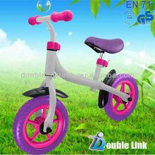 NEW kids balance running bike with optional baskets and bells