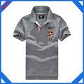 venta al por mayor de encargo del bordado nuevo diseño de la moda barata camisas de polo para los hombres