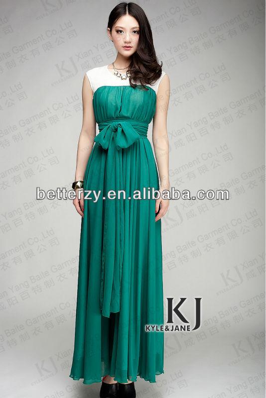 2014 latest baju kebaya muslim with 2 layers composite silk fabric