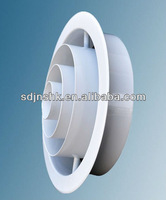 Aluminum adjustable core and round jet diffuser