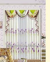 2013 balckout flocking textile fashion window curtain
