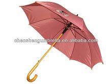 curve wood handle advertising wooden umbrella