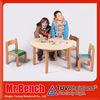 kindergarten solid wood dining table new design for 2015