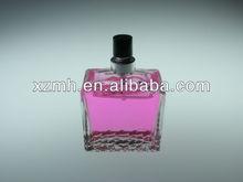 50ml clear glass perfume bottle with aluminum sprayer