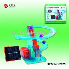 educational diy solar power coaster/railway toys for child