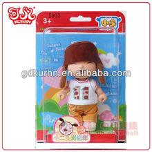 Plastic 3.5'' dressed up girl doll toy for children / child love dolls
