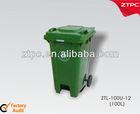 100L plasitc trash can waste bin garbage bin wheeli bins with two wheels