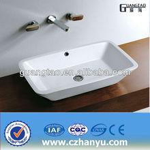 GT-5053 popular selling hot bathroom sink Ceramic Tabletop Basin