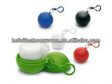 Promotional Plastic ball raincoat/rain poncho