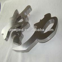 Burshed stainless steel metal numbers