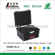 Waterproof plastic tool case with foam insert