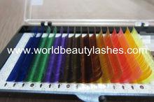mink synthetic lashes tweezers individual eyelash extension colored mink eye lashes soft