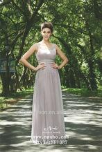 Elegant Beaded neck&sash Long Evening Dresses Cheap vintage evening gowns