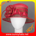 fancy Ladies sinamay church hats for party and wedding