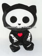 Skelanimals Plush Kit the Cat stuffed doll cute skeleton animal toy