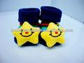 Bambino 2014 3d giallo calze ciabatte scarpe anti- slittamento 0-6 neonato