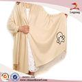 elegante de alta calidad para damas viscosa bordado mantón de pashmina