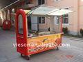 Móvil carro del quiosco de panadería carros carros de alimentos para freír ys-ho220