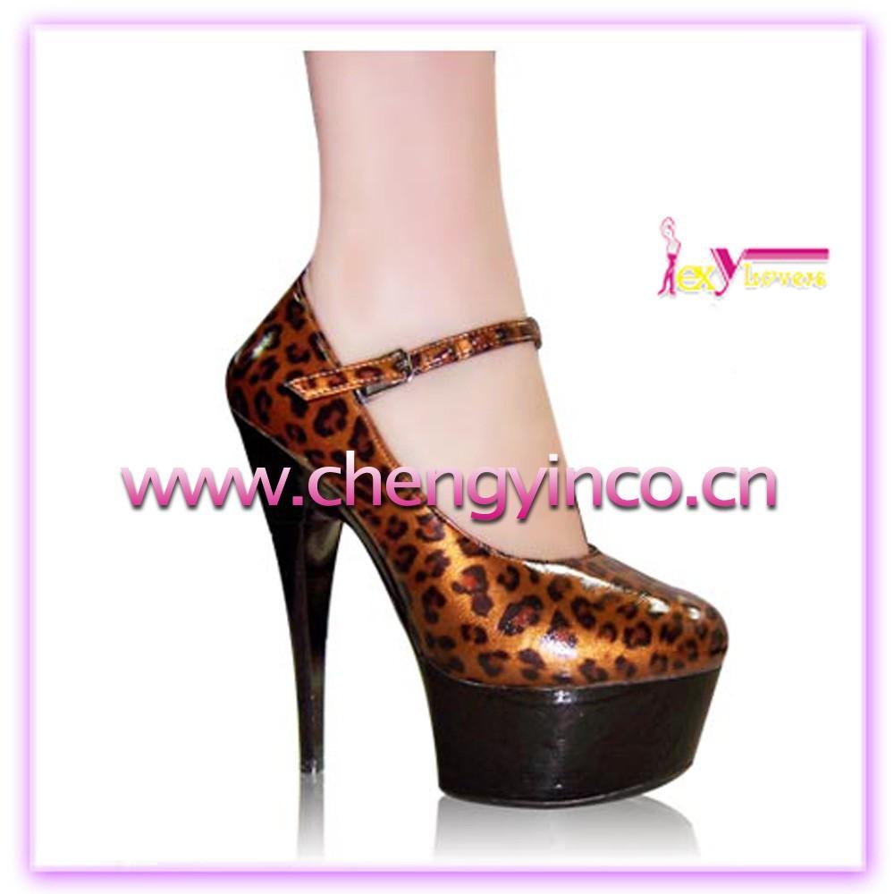 ingrosso alibaba di base vendita stampa leopardo fino superiore night club sexy piattaforma scarpe tacco alto per le donne