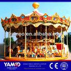 luxury double deck carousel horse music box, merry go round amusement rides