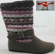 Botas de media de lana zapatos para las para mujer