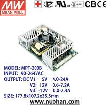 Meanwell 200W Medical 5v 12v -12v switching power supply