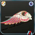 fashion clothing metal wing pin on badges