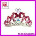Nouveau- strass cristal design personnalisé concours. gros tiare et la couronne