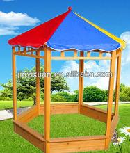 Kids Play Chinese Fir wood sandpit / Outdoor wooden sandbox