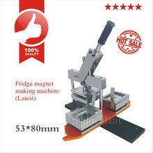53*80mm fridge magnet making machine LATEST