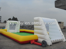 happy hop inflatable sports playground equipment, inflatable soccer filed, football soap games