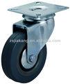 3 inç döner tablalı gri küçük lastik tekerlekler