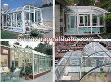 curved aluminum sun/green house