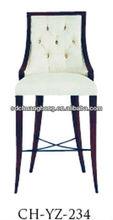 hotel restaurant wooden bar chair/oak wood bar stool/leather bar chair CH-YZ-234