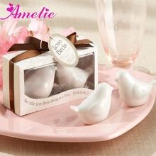 Wholesale Love Bird Ceramic Salt and Pepper Shaker Useful Wedding Gift