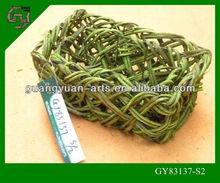 cheap green square bulk wicker basket